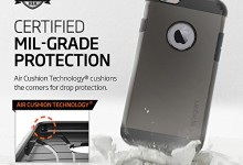iPhone 6s Case, Spigen® [Tough Armor] HEAVY DUTY [Gunmetal] EXTREME Protection Dual Layer Kick-Stand Case for iPhone 6 (2014) / 6s (2015) – Gunmetal (SGP11612)