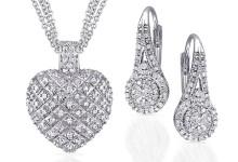 Miabella 1/4 Carat T.W. Diamond Sterling Silver Double Halo Earrings 5