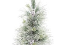 Vickerman 3′ Frosted Norway Pine Artificial Christmas Tree, Unlit 1