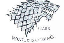 White Wolf – Game Of Thrones T-shirt: Adult XL – White