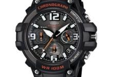 Casio Men's Rugged Chronograph Watch, Black/Red 1