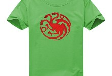 Vintage Style Game Of Thrones House Targaryen Dragon Sigil For Women's Printed Short Sleeve Tee Tshirt X-Large Green