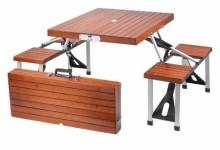 Leisure Season Portable Folding Picnic Table, Medium Brown