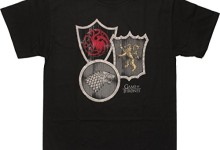 Game of Thrones Exclusive Three House Crests T-Shirt, X-Large