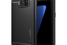 Galaxy S7 Case, Spigen® [Rugged Armor] Resilient [Black] Ultimate protection from drops and impacts for Samsung Galaxy S7 (2016) – (555CS20007)