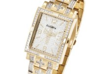 Elgin Men's Oversized Glitz Cross Watch