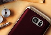 Galaxy S7 Edge Case, Caseology® [Envoy Series] [GENUINE LEATHER] [Leather Cherry Oak] Leather Bound Bumper Cover for Samsung Galaxy S7 Edge (2016) – Leather Cherry Oak