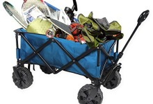 Portable Folding All-Terrain Wagon Beach Laundry Camping Park Picnic Cart, Blue