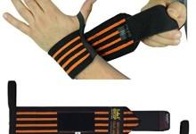 Deluxe Wrist Wraps 13″ Long (1 Pair /2 Wraps) for WEIGHT LIFTING TRAINING WRIST SUPPORT COTTON WRAPS GYM BANDAGE STRAPS Orange