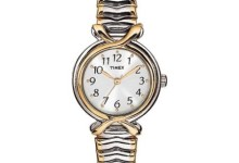 Timex Women's Pleasant Street Watch, Two-Tone Stainless Steel Expansion Band 1