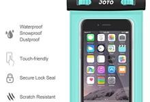 JOTO Waterproof Cell Phone Dry Bag Case for Apple iPhone 6, 6 plus, 5S 5C 5 4S, Samsung Galaxy S6, S5, Galaxy Note 4 3, Windows, HTC LG Sony Nokia Motorola – Green